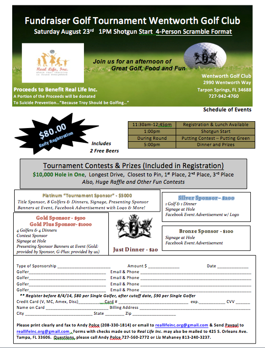 Golf Tournament Troy 2014